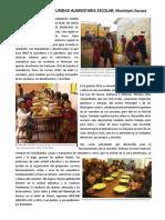 Comedores Voserdem en Norte de Potosi 2016
