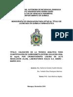 Validación de Tecnica Analítica Carboximetilcisteína Solución Oral