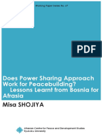 Does Power Sharing Work