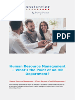 Human Resource Management - What's the Point of an HR Department