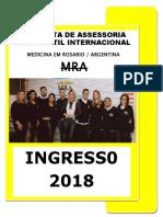 1 Medicina Na Argentina Ingresso 2018