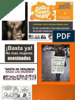 25 de Noviembre, Día Internacional de La No violencia contra mujeres y niñas