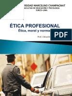 1. Etica, Moral y Deontologia