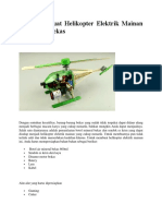 Cara Membuat Helikopter Elektrik Mainan Dari Botol Bekas