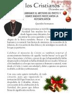 Carta a Los Cristianos Diciembre 2017