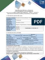 Guía de actividades y rubrica de evaluación Tarea 7- Desarrollar ejercicios de Geometria Analitica, Sumatorias y Productorias