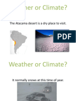 weather or climate practice
