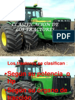 Clasificacion de Los Tractores Segun Hp y Traccion de Microsoft PowerPoint