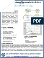 Performance Analysis of Comm. Systems