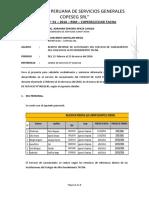 4to Informe Del Proveedor