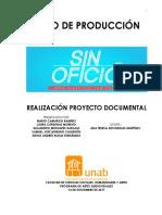 Libro de producción Sin Oficio
