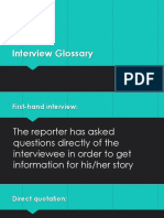 interview glossary