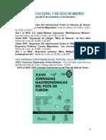 Agenda cultural y de ocio de Mieres. Semana del 27 de noviembre a 3 de diciembre.