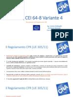 Diapositive Norma CEI 64-8 Variante 4