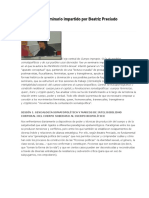 Cuerpo impropio. Guía de modelos somatopolíticos y de sus posibles usos desviados- Resumen del seminario impartido por Beatriz Preciado