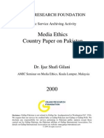Media Ethics - Country Paper on Pakistan