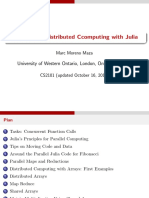 Parallel Computing With Julia