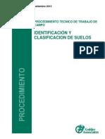 Procedimiento de Identificacion y Clasificacion de Suelos SUCS_Rev 0