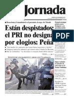 portada de La Jornada 24 de noviembre de 2017