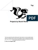 top 5 projects by skunk works
