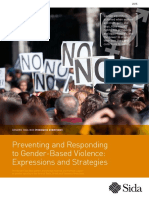 Preventing and Responding to Gender Based Violence