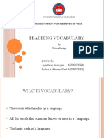 Presentation - Vocabulary