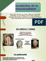 HISTORIA de La Homosexualidad Diapositivas