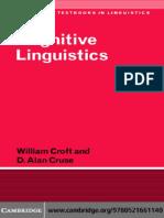 Croft William Cruse Alan d Cognitive Linguistics