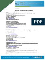 Laboratorios Forenses en Argentina
