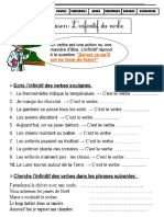 Linfinitif Du Verbe CE1 PDF
