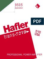 Hafler Manual MAN0587D 9303 9505 Man
