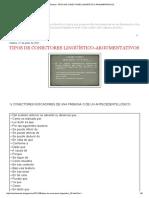 Iuris Tantum Tipos de Conectores Lingüístico-Argumentativos