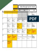 Open Rec Calendar