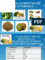 Fuentes Alimentarias de Vitamina e