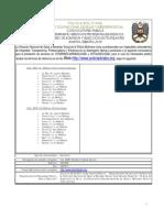 Convocatoria Med. UNIPOL 2018