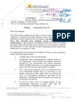 Letter From PPA - RE Cadastral Lot 971