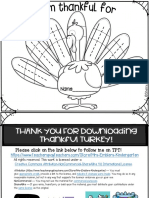 Thankful Turkey Writing