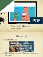mon nov 27 american history