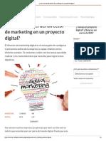 ¿Cuál es el rol del director de marketing en un proyecto digital_