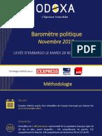 Baromètre politique Odoxa - Novembre 2017