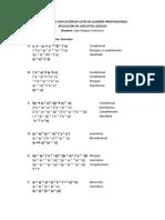 Problemas de Algebra Proposicional
