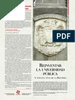 Reinventar La Universidad Publica