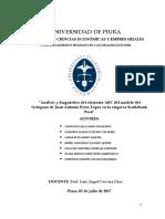 """Análisis y diagnóstico del elemento ABC del modelo del Octógono de Juan Antonio Pérez López en la empresa Scotiabank Perú"""""""