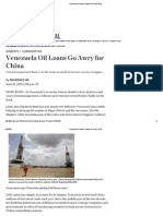 Venezuela Oil Loans Go Awry for China - WSJ