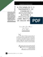 psicanalise cças adolesc autistas e psicoticas