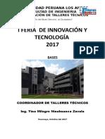 Bases 1ra Feria Tecnologica de Talleres Tecnicos 2017 -II