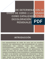 Método de Determinación de Oxido de Cerio Ppt