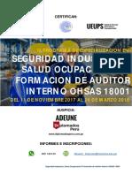 Seguridad Industrial y Salud Ocupacional Formacion de Auditor Interno en OHSAS 18001