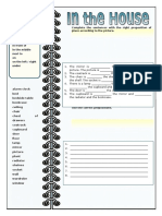 In the House Prepositions of Place Grammar Drills Picture Description Exercises Tests 92251