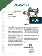Caudalímetro UF54 DS (5810595 E1 ES)
